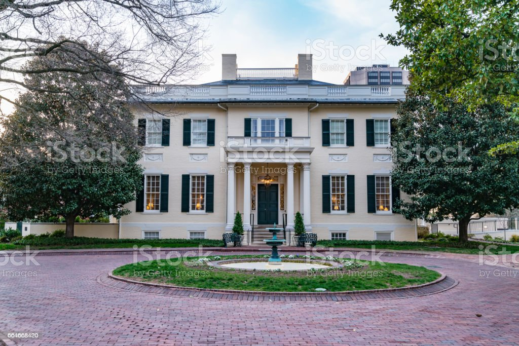 Virginia Governors Mansion stock photo