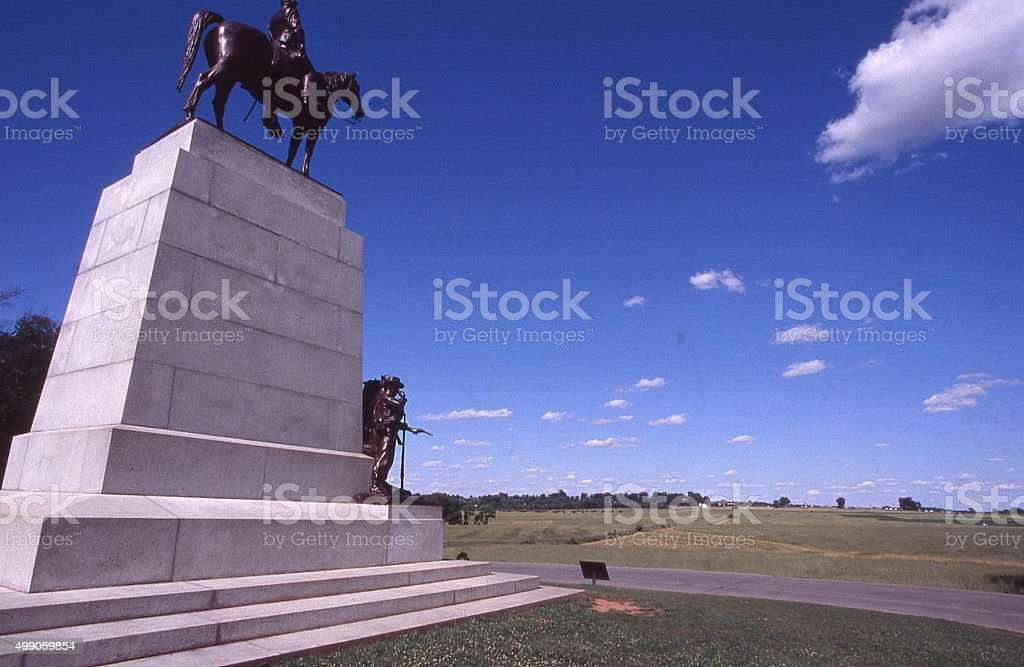 Virginia Memorial Gettysburg National Military Park Pennsylvania stock photo