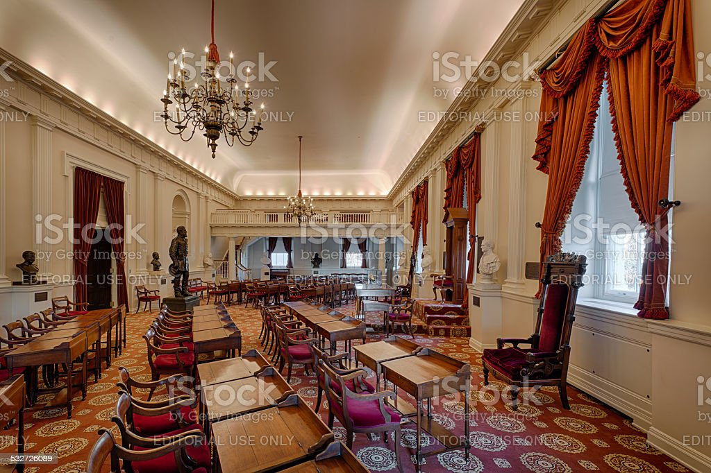 Virginia Old House chamber stock photo