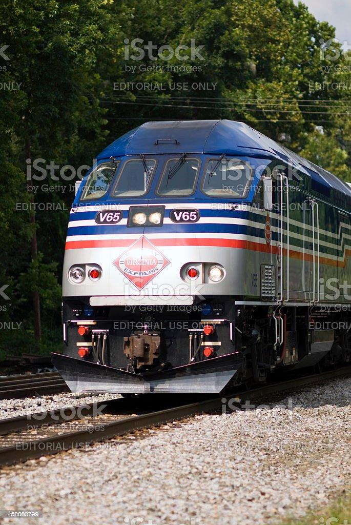 Virginia Railway Express (VRE) Locomotive royalty-free stock photo