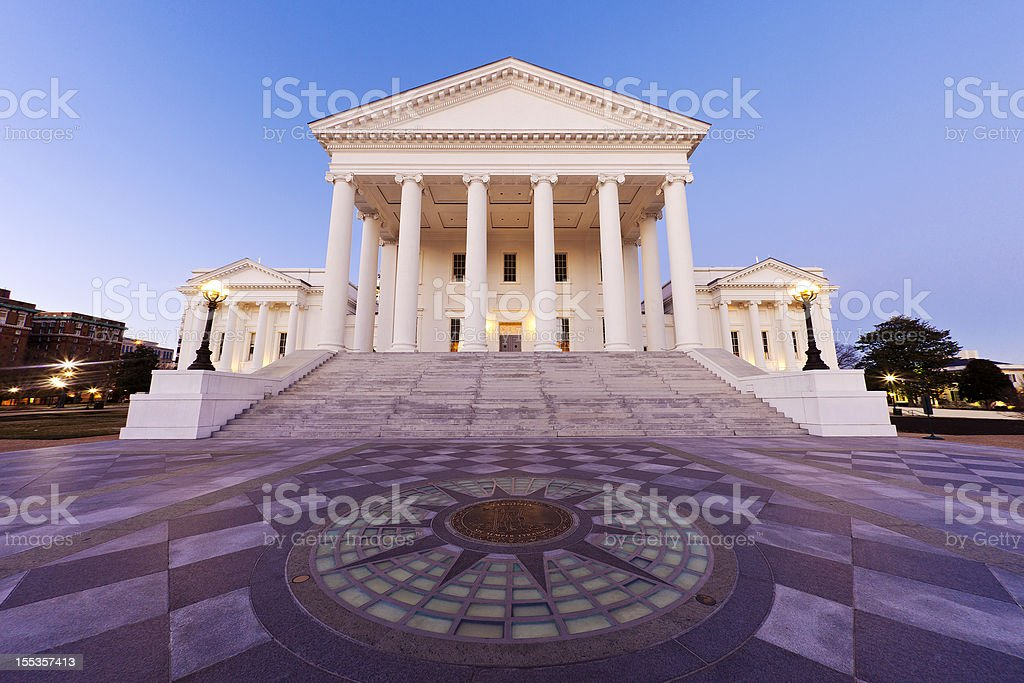 Virginia State Capitol Building In Richmond stock photo