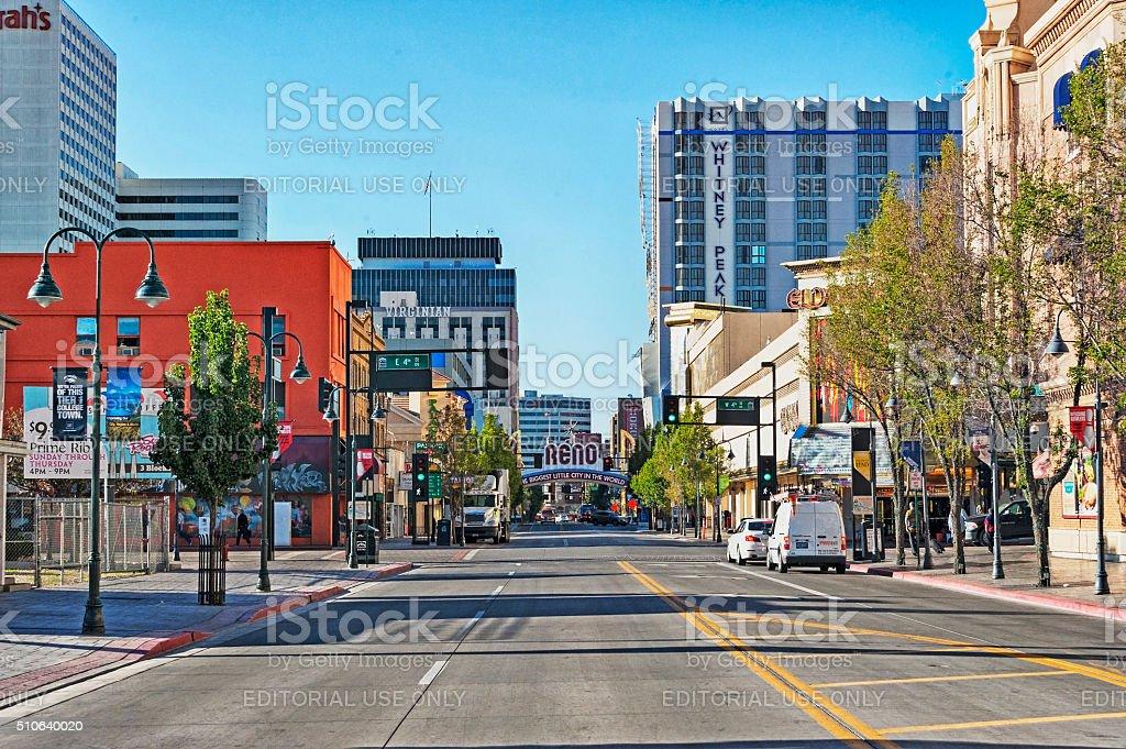 Virginia Street Views Reno Nevada stock photo