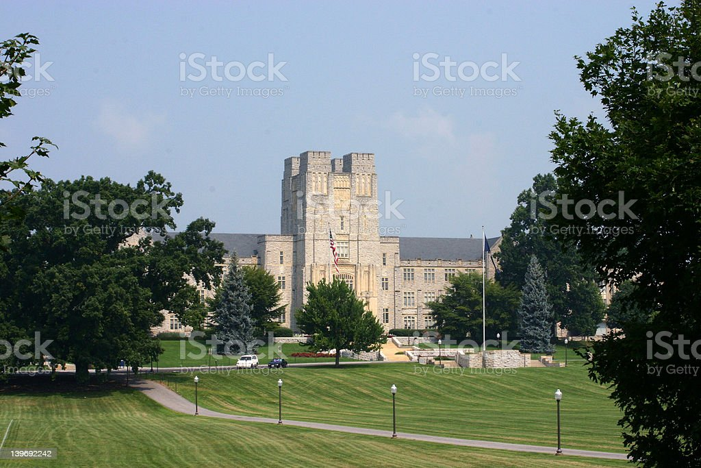 Virginia Tech Campus stock photo