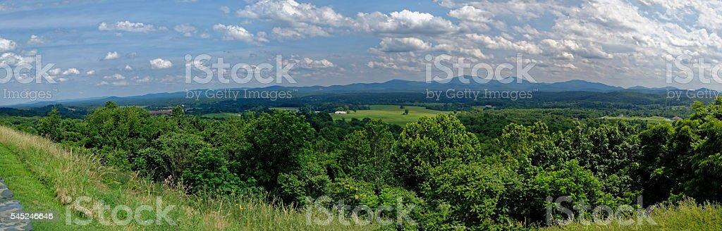 Virginia Valley Panorama stock photo
