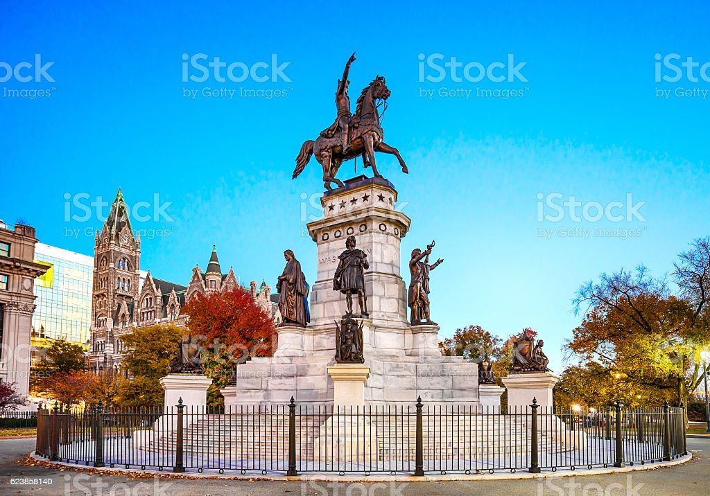 Virginia Washington Monument In Richmond stock photo