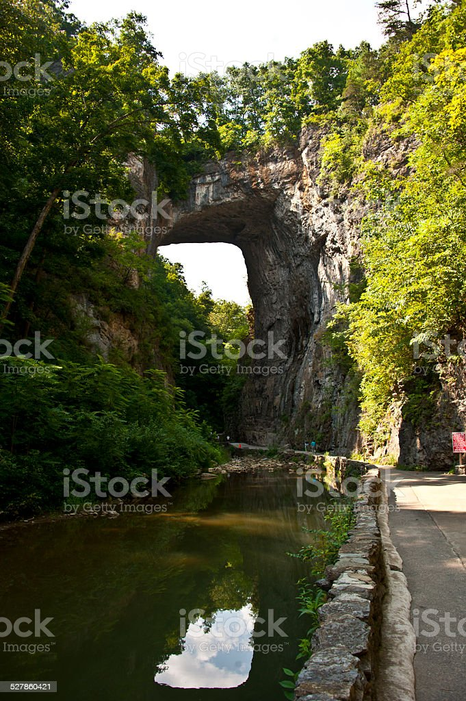 Virginia's Natural Bridge Park; Historic Landmark stock photo