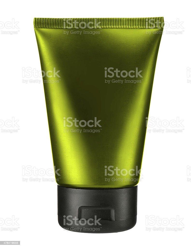 Virid cosmetic tube royalty-free stock photo