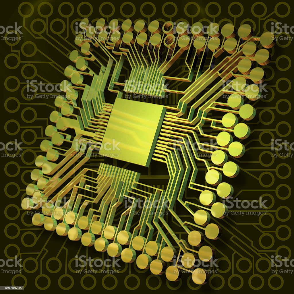 Virtual Brain Power II royalty-free stock photo