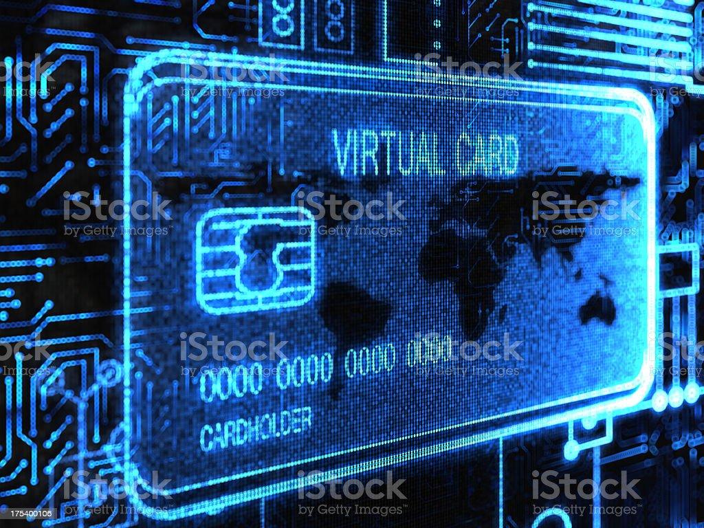 Virtual Card vector art illustration