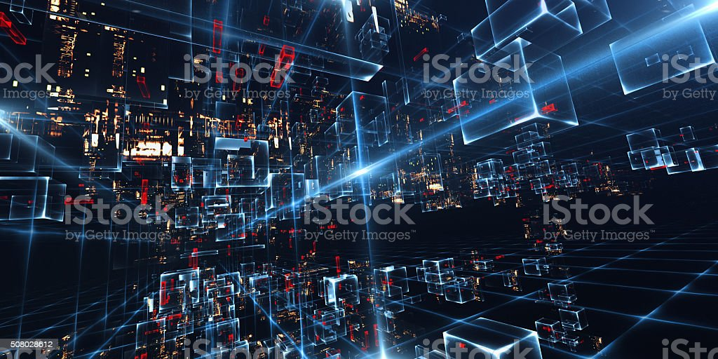 Virtual City stock photo