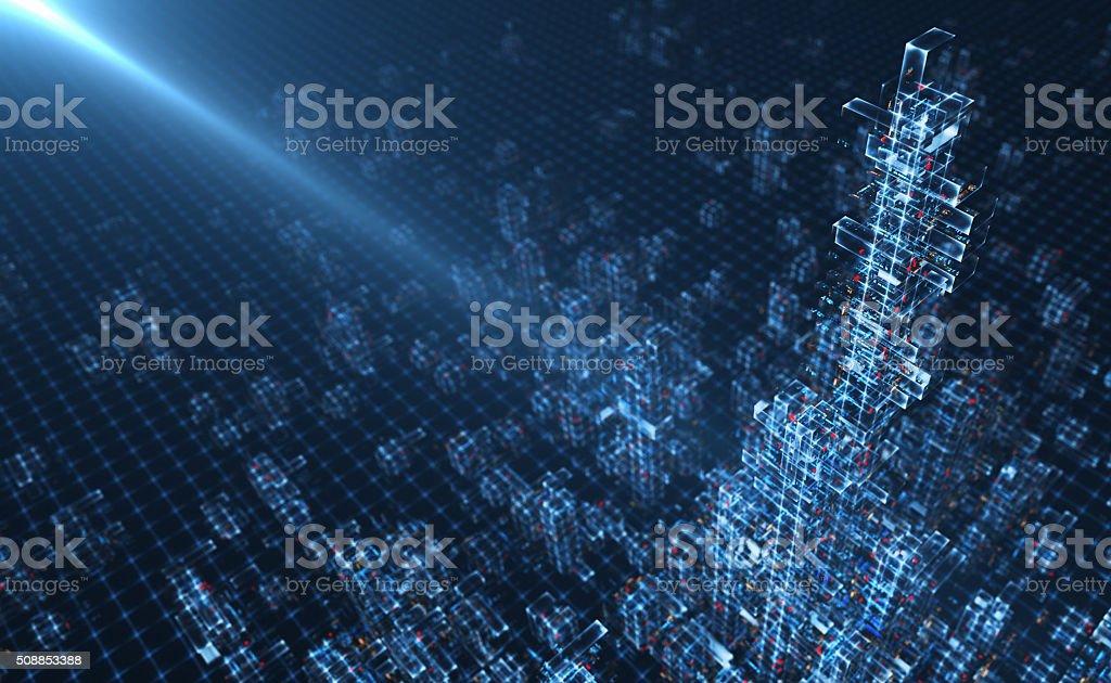 Virtual City stock photo