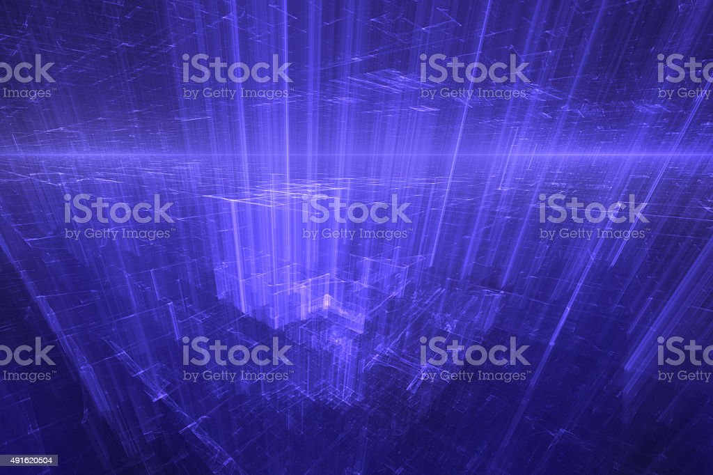 Virtual city - technology background stock photo
