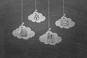 Virtual cloud storage concept
