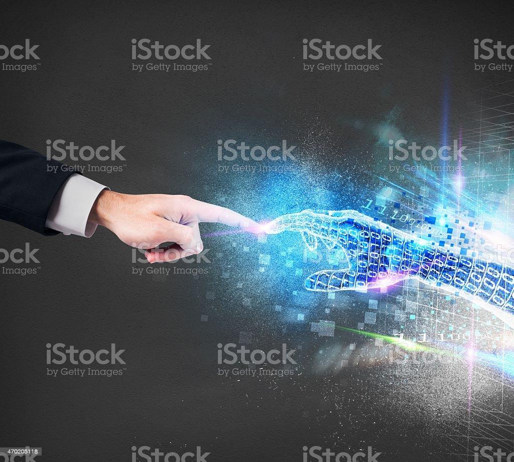 Virtual connection stock photo