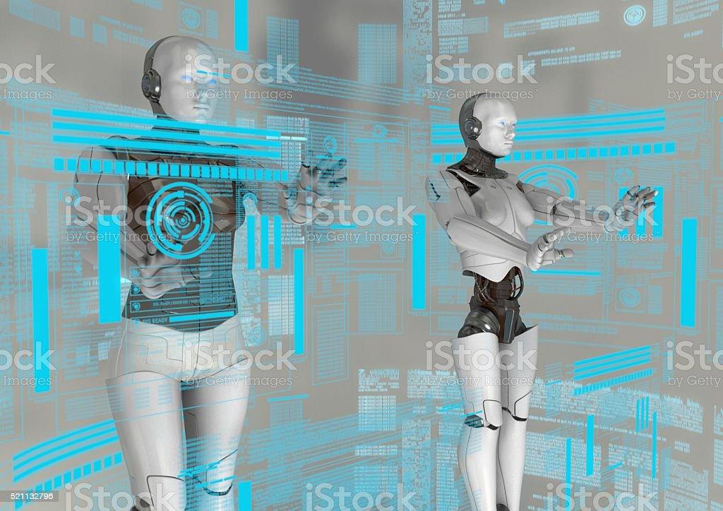 virtual cyborg stock photo