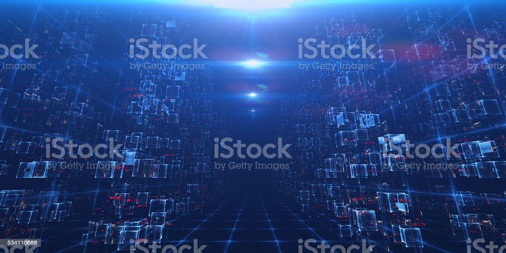 Virtual Data Center stock photo
