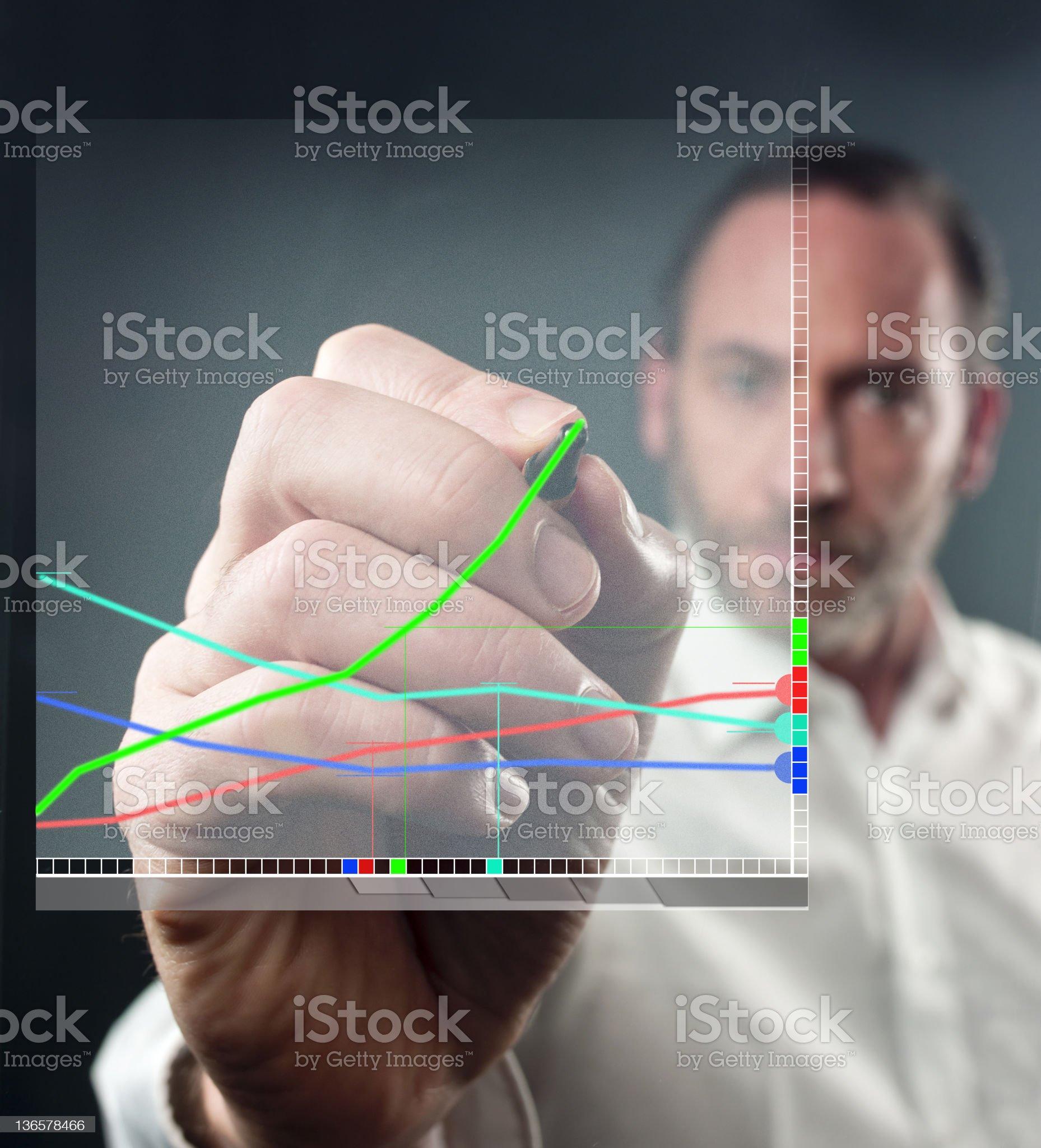 Virtual Diagram royalty-free stock photo