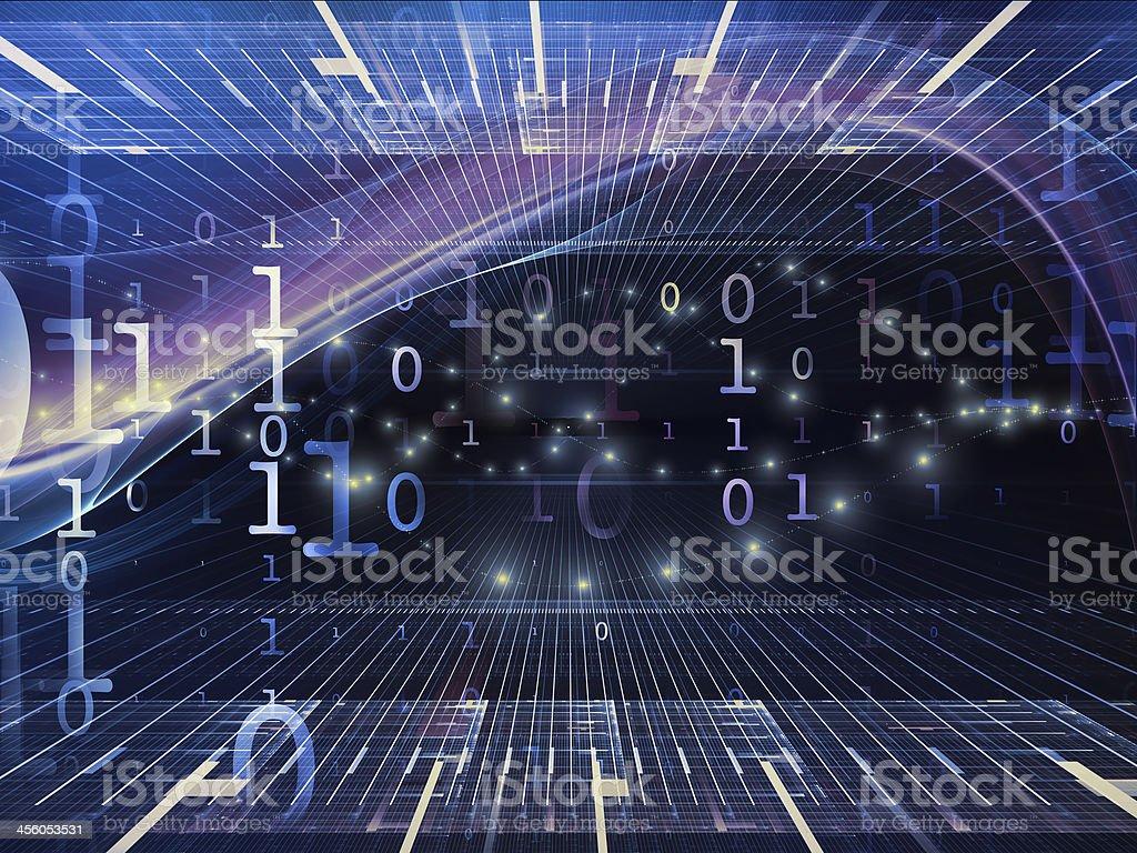 Virtual Fractal Realms stock photo