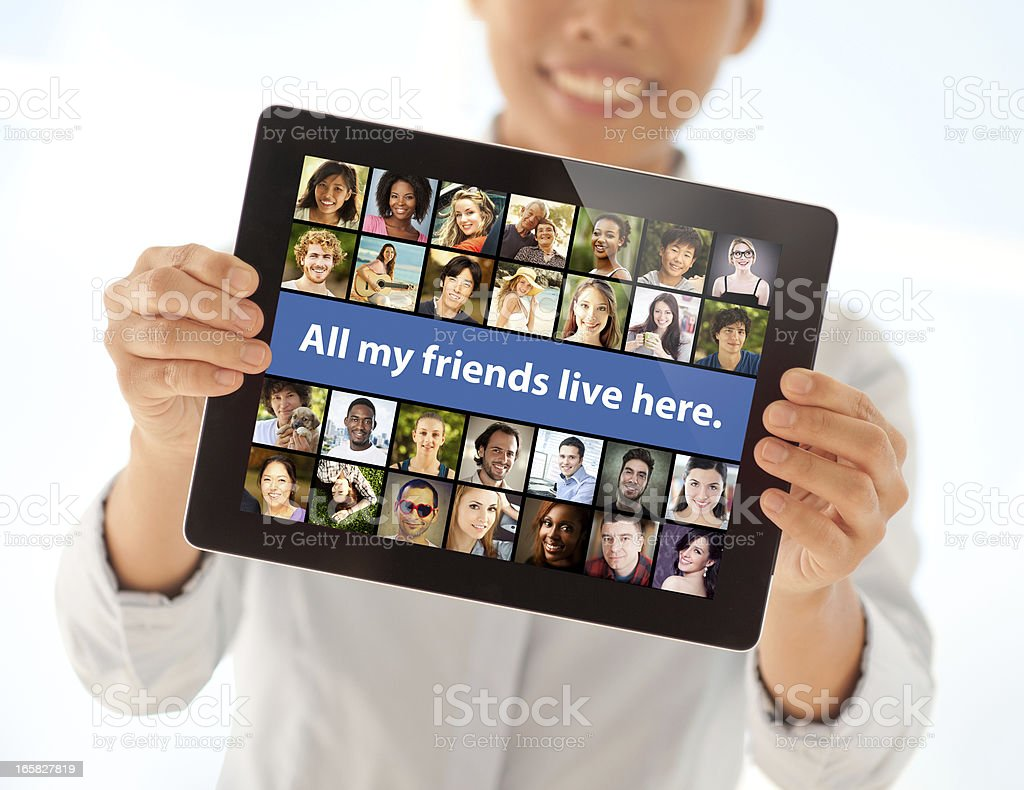 Virtual Friendship stock photo