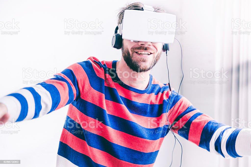 3D virtual fun stock photo