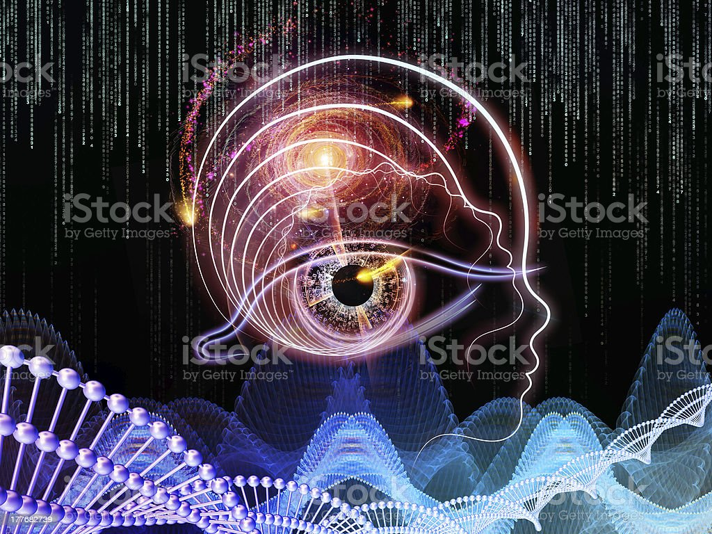 Virtual Human Technology royalty-free stock photo
