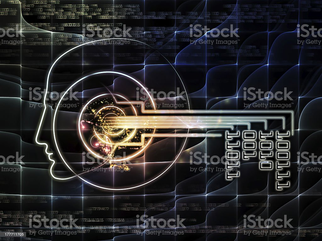 Virtual Key Concept royalty-free stock photo