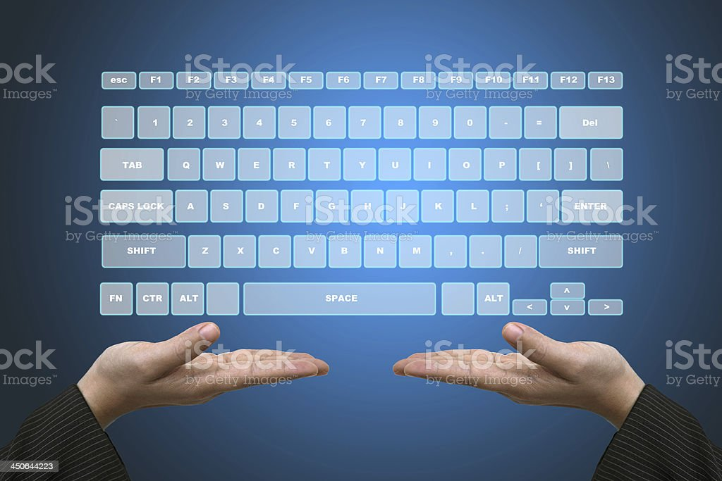 Virtual Keyboard Interface royalty-free stock photo