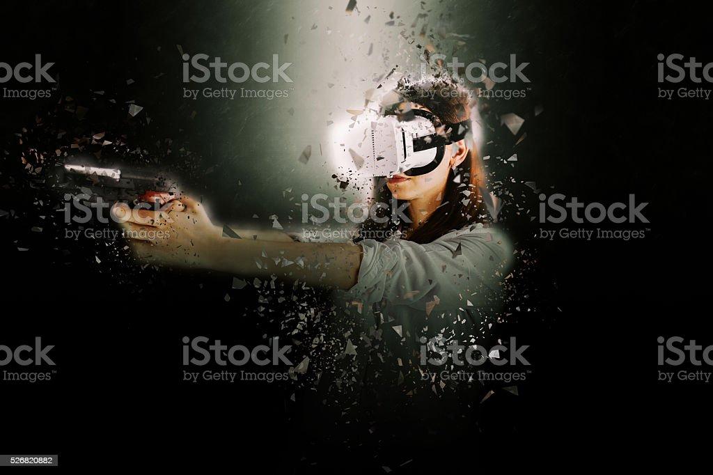 Virtual killer stock photo