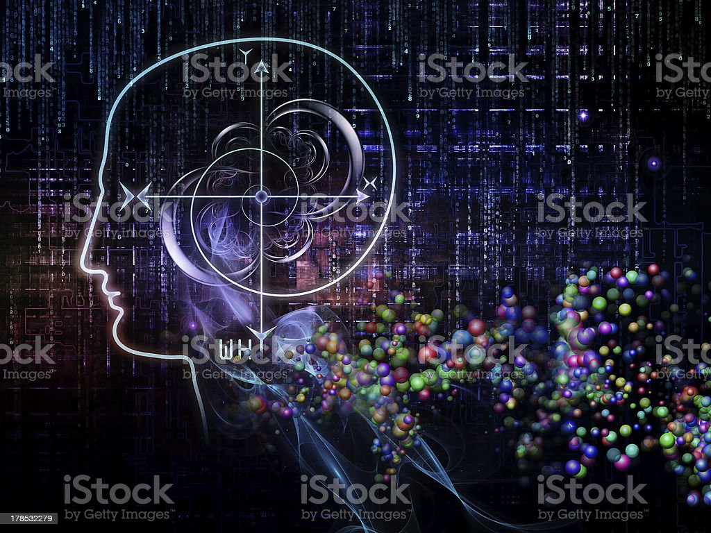 Virtual Knowledge royalty-free stock photo
