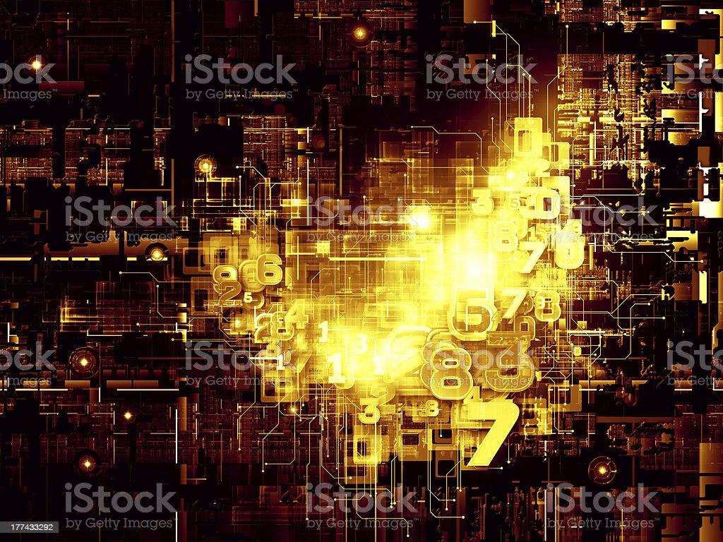 Virtual Life of Digital Network royalty-free stock photo