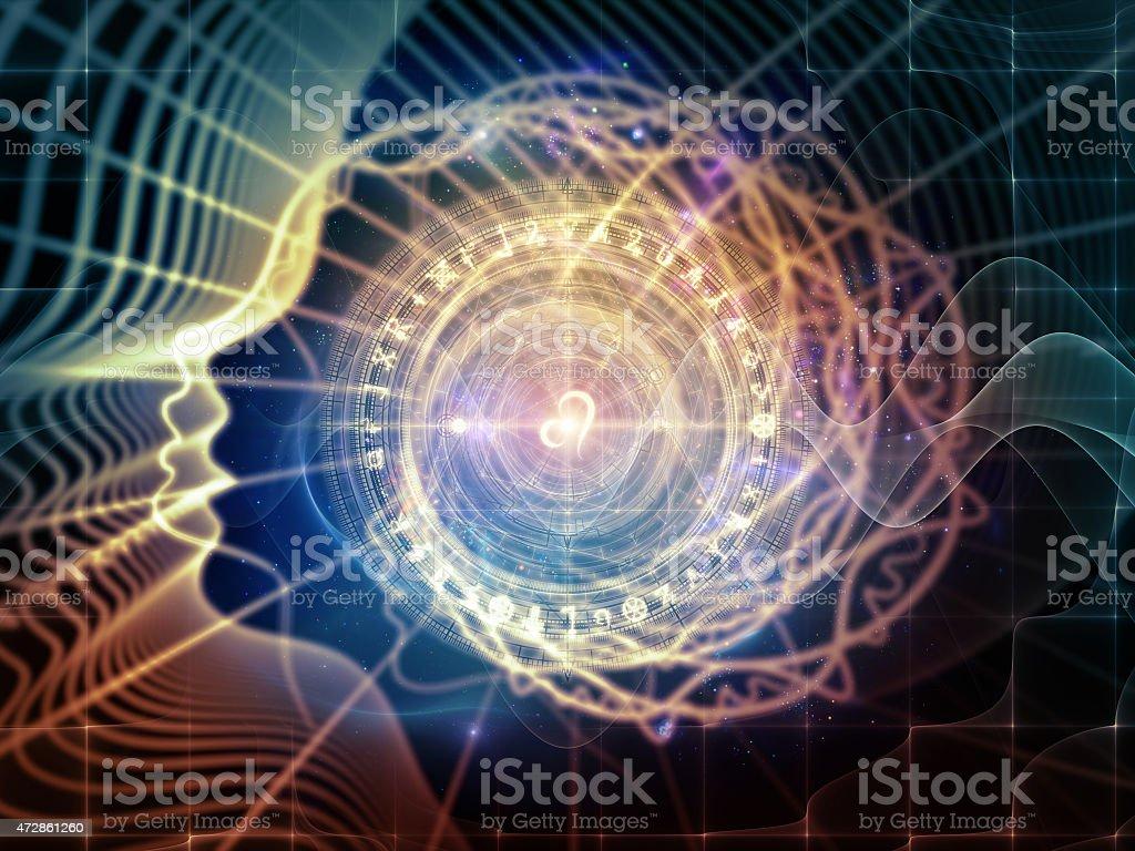 Virtual Life of Inner Geometry stock photo
