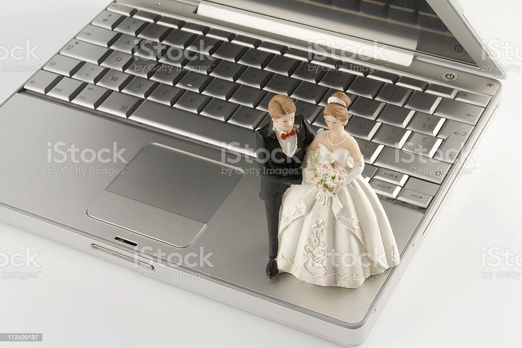 Virtual marriage royalty-free stock photo
