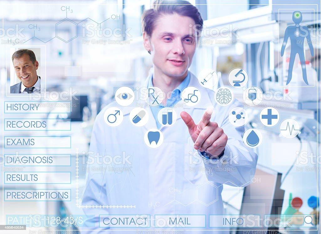 Virtual medical card stock photo