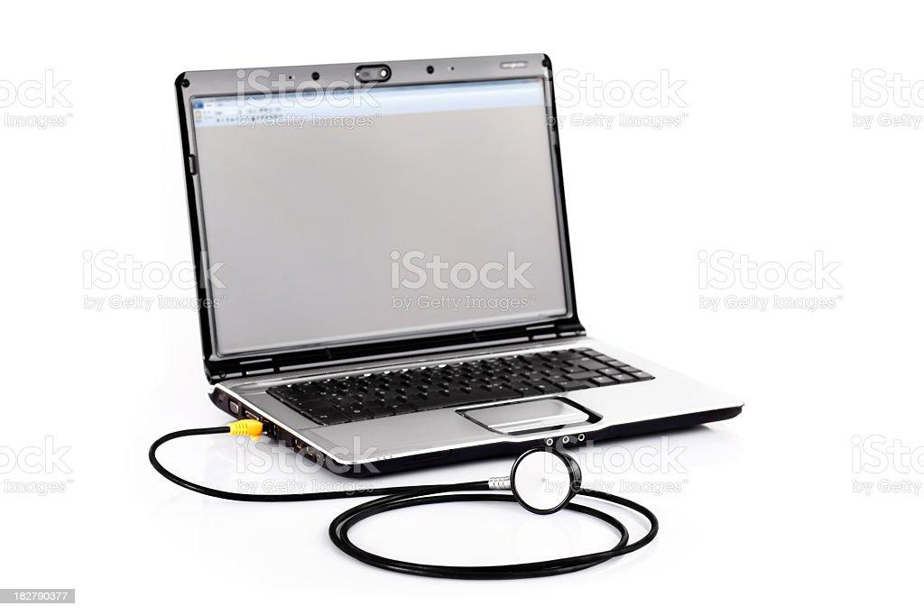 Virtual medicine royalty-free stock photo