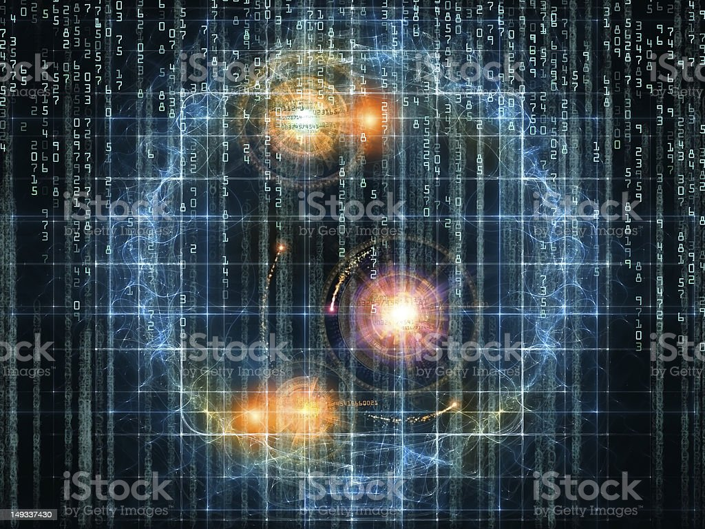 Virtual Numbers royalty-free stock photo