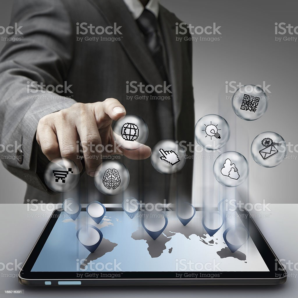 virtual pixel sign internet icons concept royalty-free stock photo