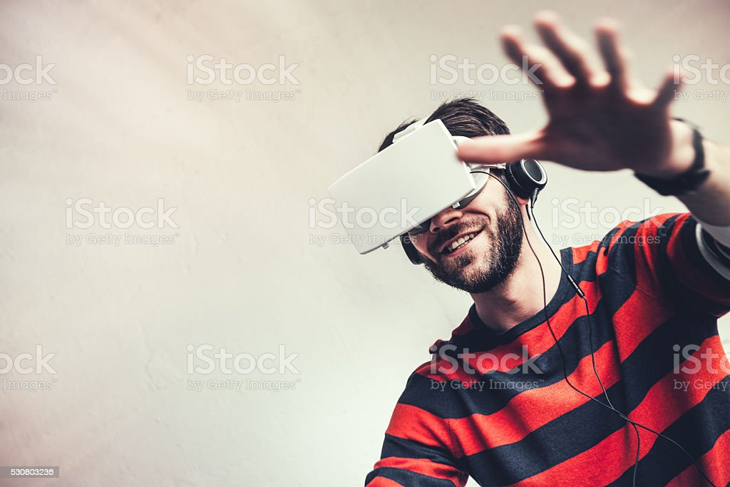 Virtual Reality Experience stock photo