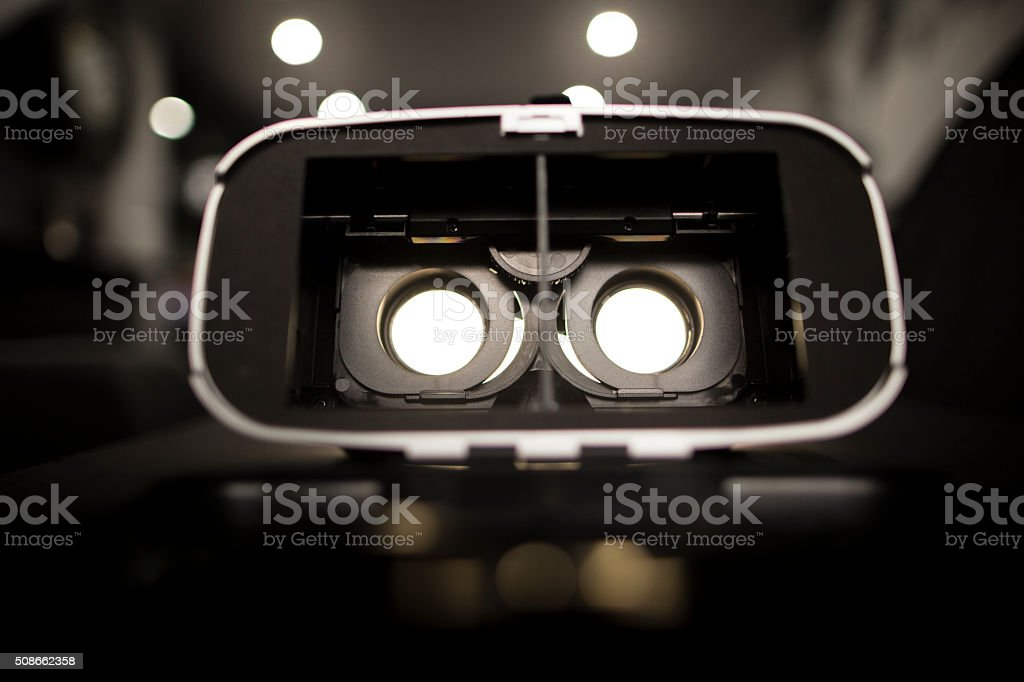 Virtual reality goggles headset stock photo