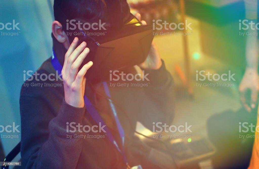 Virtual reality headset stock photo