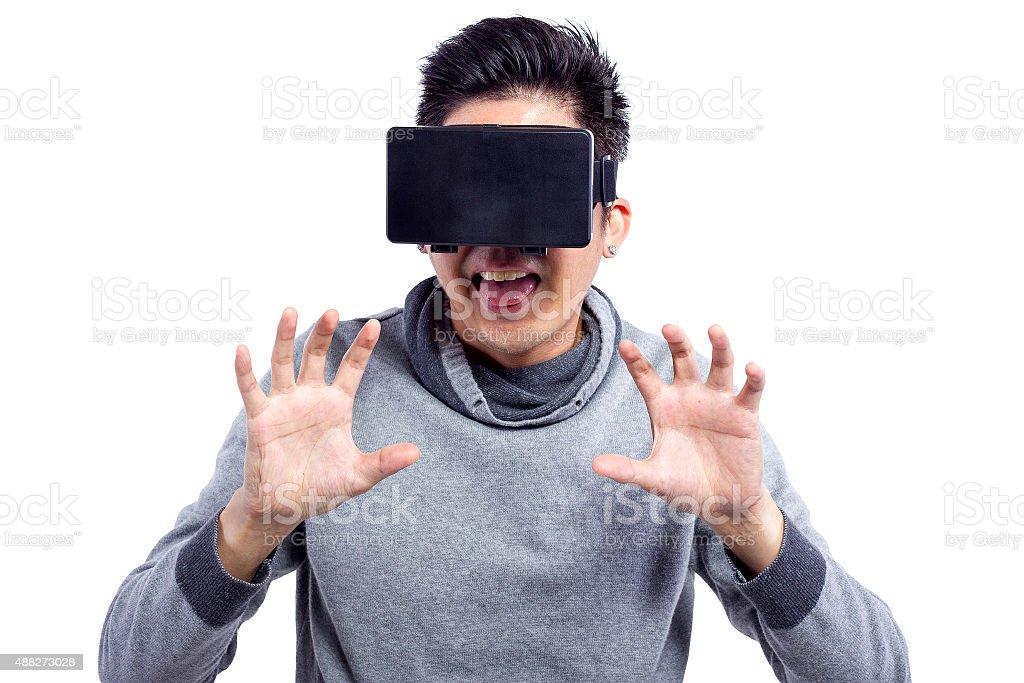 3D Virtual Reality Movies stock photo