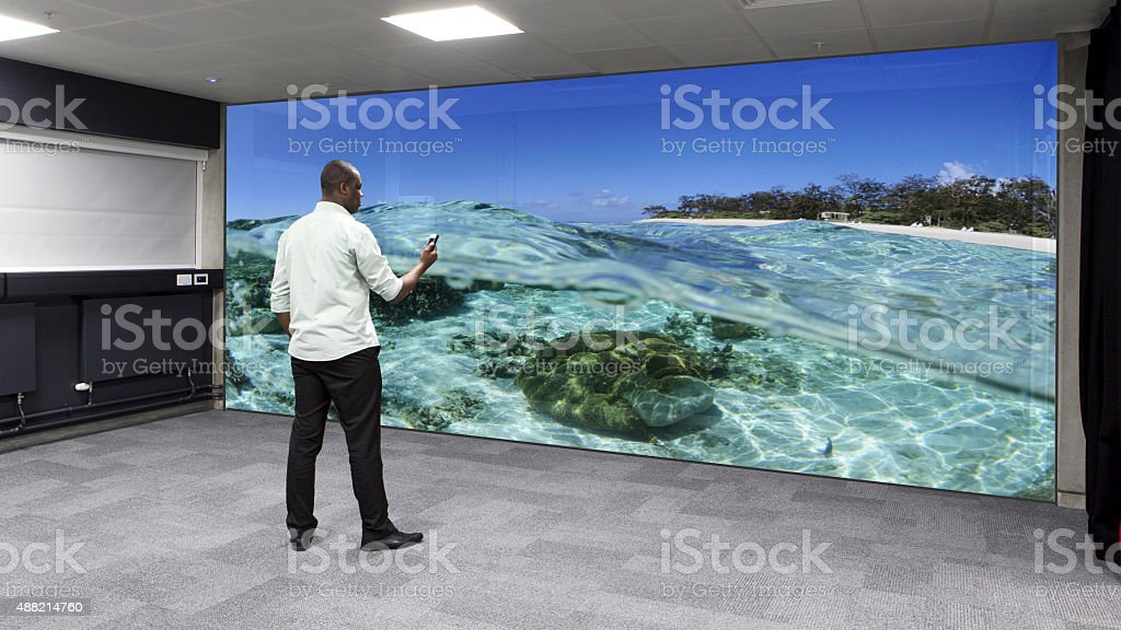 Virtual Reality Wall stock photo
