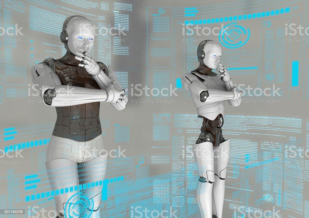virtual robots stock photo