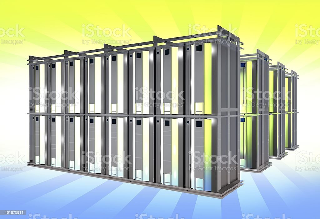 Virtual Servers Rack stock photo