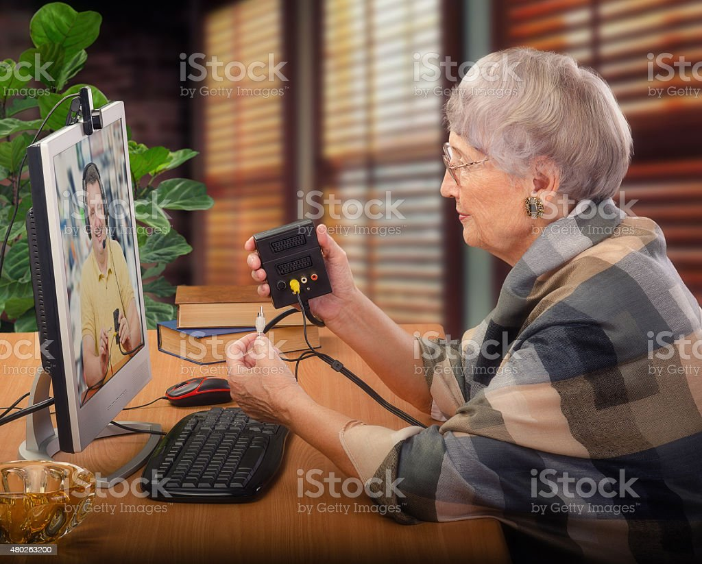 Virtual technical support stock photo