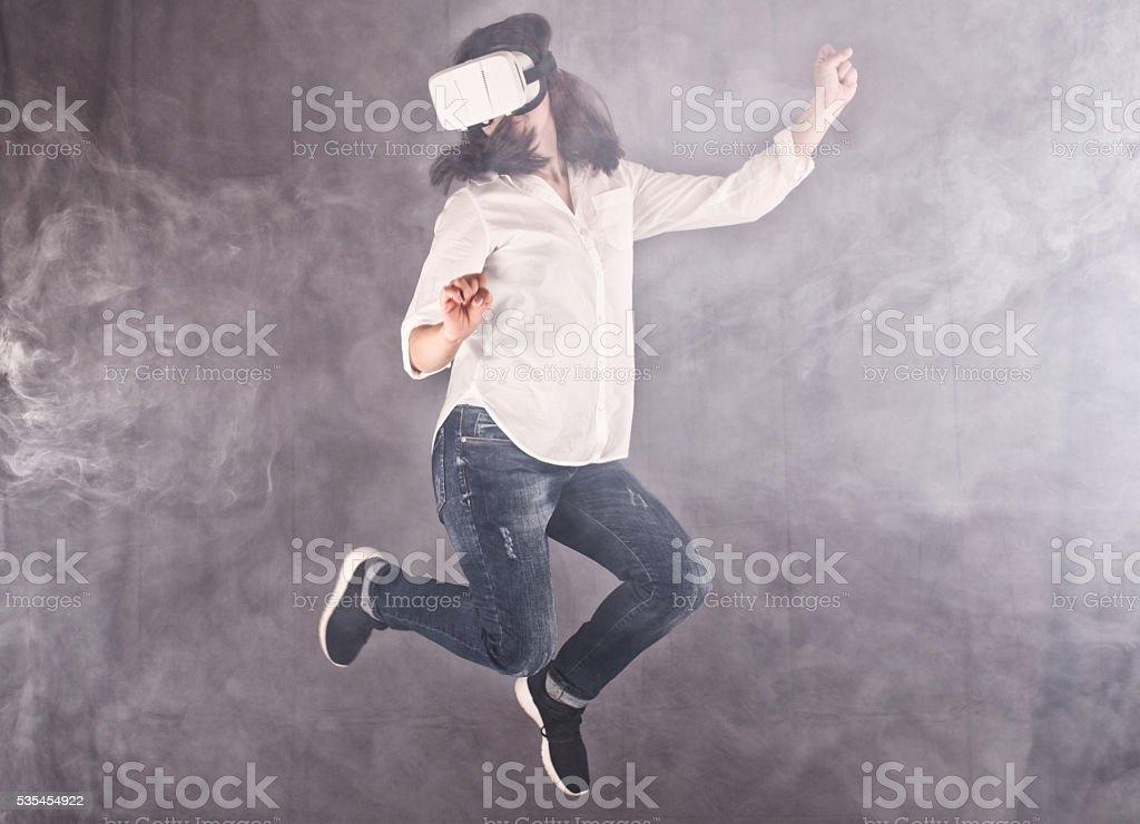 Virtual world funtime stock photo