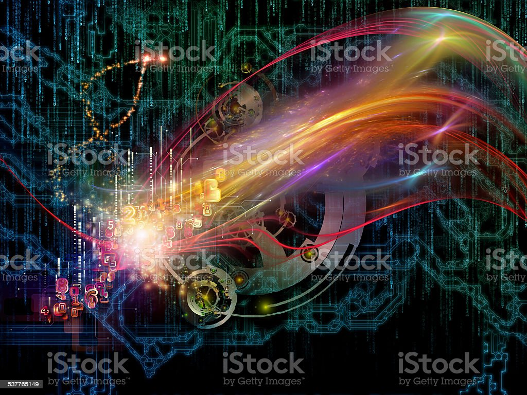 Virtualization of Gears stock photo