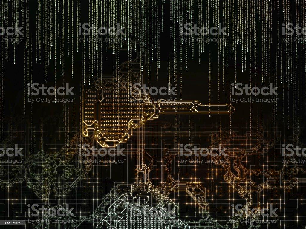 Virtualization of Key Code royalty-free stock photo