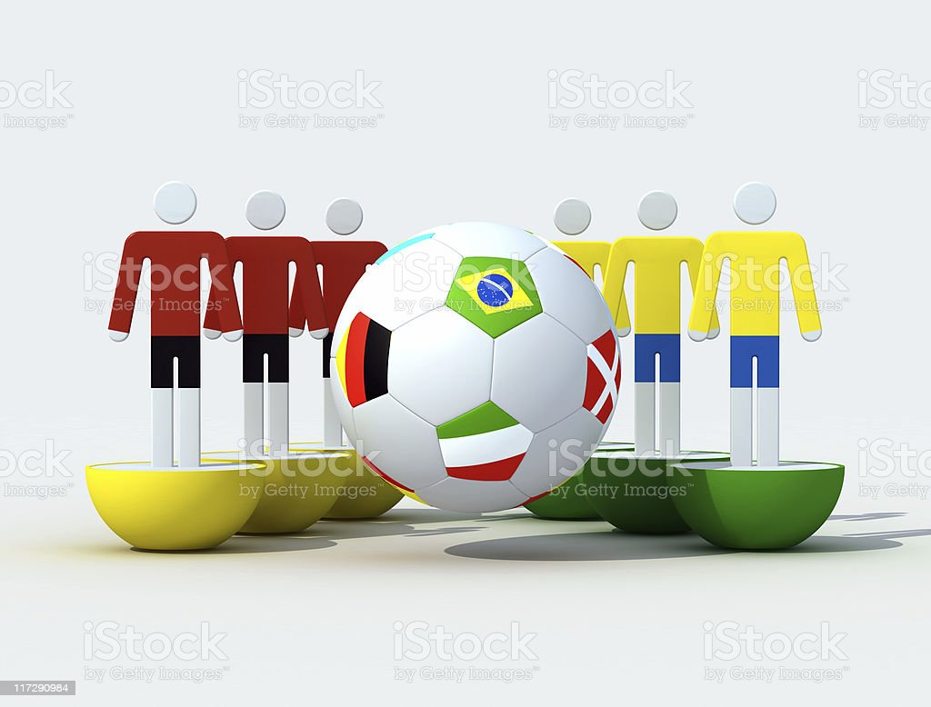 virual soccer team royalty-free stock photo