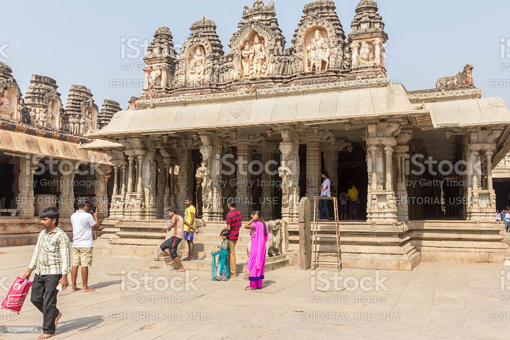 Virupaksha Shiva Temple, Hampi, India stock photo