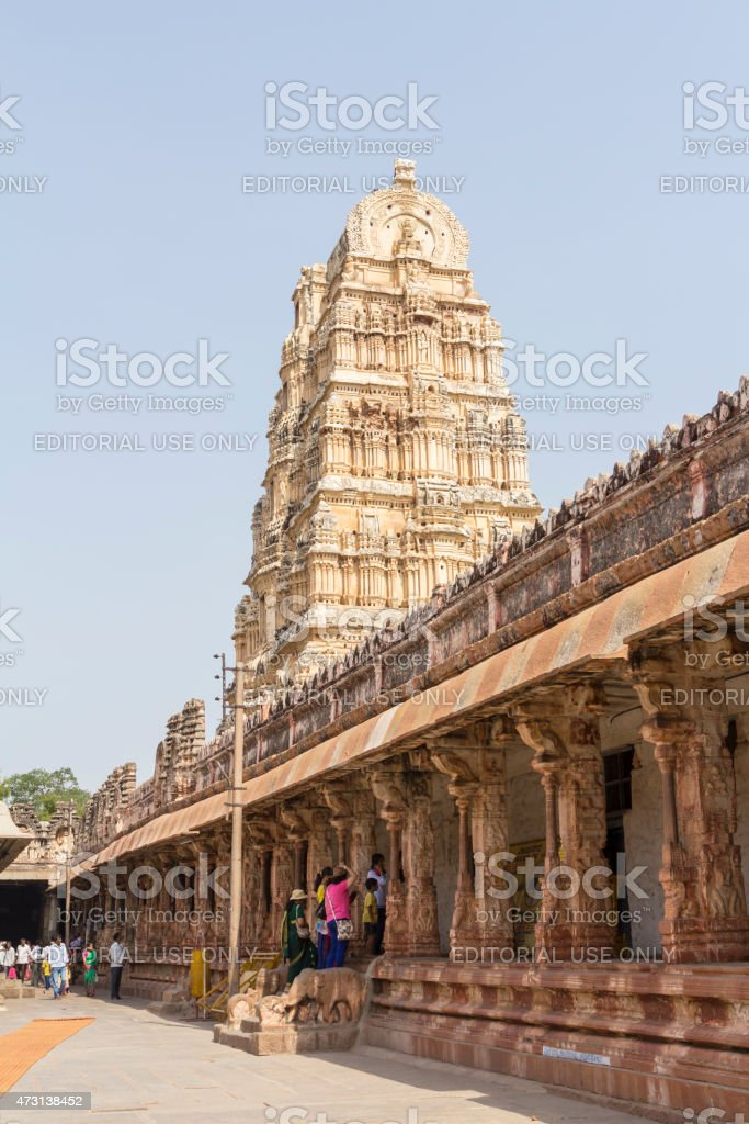 Virupaksha Temple complex, Hampi, India stock photo
